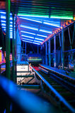 Amusement park train ride Royalty Free Stock Images