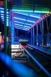 Amusement park train ride Royalty Free Stock Images