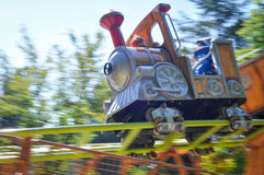 Amusement park train Stock Images