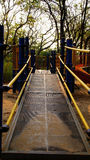 Amusement park. Up stair to amusement park in the garden royalty free stock photography