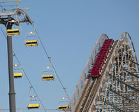 Amusement Park - Ups & Downs royalty free stock images