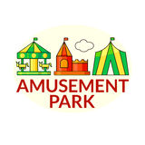 Amusement park vector icons Royalty Free Stock Photos