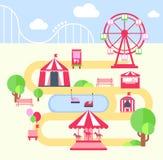 Amusement Park, Vector Illustartion Stock Photography