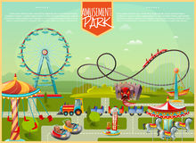 Amusement Park Vector Illustration Stock Photos