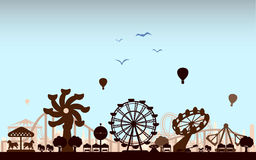 The Amusement Park. Vector for your ideas Stock Images