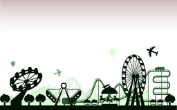 The Amusement Park. Vector for your ideas stock illustration
