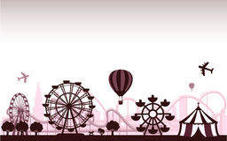 The Amusement Park. Vector for your ideas Stock Photo