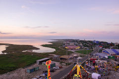Amusement park a view of an in the village of kirillovka in ukraine from the ferris wheel Stock Photography