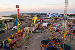Amusement park a view of an in the village of kirillovka in ukraine from the ferris wheel Royalty Free Stock Photography