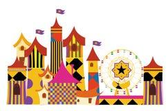 Amusement parks. Created Adobe Illustrator CS Royalty Free Stock Image