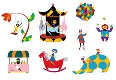 Amusement parks pattern Royalty Free Stock Photo