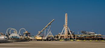 Amusement Pier (panoramic) royalty free stock photography