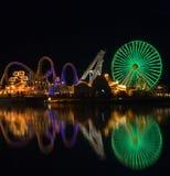 Amusement Pier Reflection Stock Photos