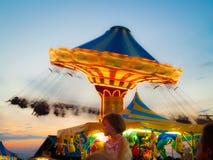 Amusement Pier Swings Stock Photos