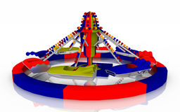 Amusement ride against a white background. Computer generated 3D illustration with an amusement ride against a white background Stock Images