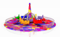 Amusement ride against a white background Royalty Free Stock Image