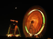 Amusement ride at night Stock Image