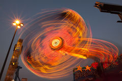 Amusement Ride at Night Royalty Free Stock Image