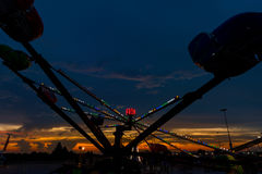Amusement Ride at Night Stock Photography