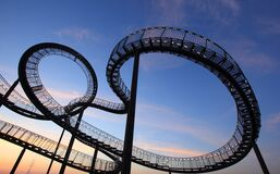Amusement Ride, Sky, Landmark, Roller Coaster royalty free stock photography