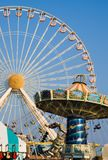 Amusement Rides. In motion on one of Wildwood New Jersey's Piers Royalty Free Stock Photo