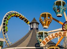 Amusement Rides. In motion on one of Wildwood New Jersey's Piers Stock Photo
