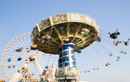 Amusement Rides. In motion on one of Wildwood New Jersey's Piers Royalty Free Stock Images