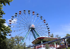 Amusement rides in the amusement park Royalty Free Stock Images