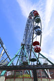 Amusement rides in the amusement park Stock Images