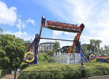 Amusement rides in the amusement park in Helsinki Royalty Free Stock Photography