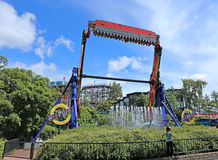 Amusement rides in the amusement park in Helsinki Stock Photography