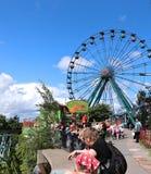 Amusement rides in the amusement park in Helsinki Stock Image