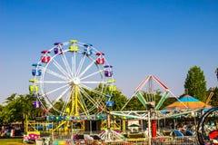 Amusement Rides At Local County Fair Royalty Free Stock Photo