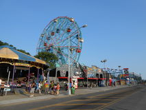 Amusement Rides on Coney Island. Stock Photos