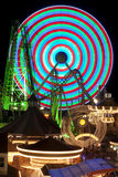 Amusement Rides at night Royalty Free Stock Image