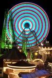 Amusement Rides at night Royalty Free Stock Image