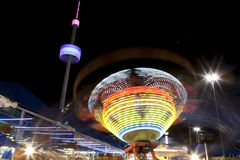 Amusement rides at night Stock Image