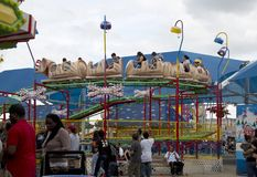 Amusement rides is popular at State Fair Texas Stock Photo