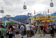 Amusement rides was crowd at Dallas Fair Park Stock Photos
