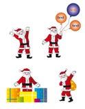 Amusement Santa dans la pose différente Image libre de droits