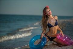 Amusement sur la plage Image libre de droits