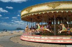 Amusement sur la plage de Brighton images libres de droits