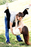 Amusement of young couple Royalty Free Stock Photography