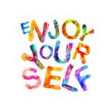 Amusez-vous Slogan inspiré de vecteur illustration de vecteur