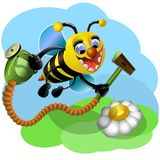 Amusing-μέλισσα μέλισσα αστεία Στοκ Εικόνα