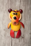 Amusing bear made of fruits Royalty Free Stock Photography