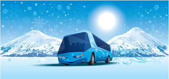 Amusing bus Stock Photos