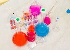 Amusing chemical analysis Royalty Free Stock Images