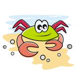 Amusing crab Royalty Free Stock Photos