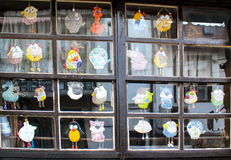 Amusing crafts. Amusing front store and creativity at Veliko Tarnovo, Bulgaria Stock Photo